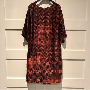 BOSS Hugo Boss houndstooth silk dress